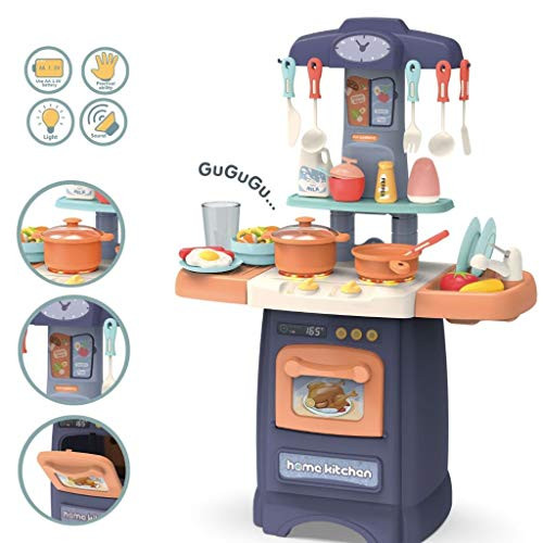 wodtoizi Kids Kitchen Playset Cooking Toys Set w Realistic Sounds and  Lights Mini Chefs Pretend Play Dessert Food Assortment Set Party Role Play  Toy ...