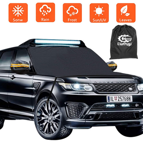 Ice and Snow Sun Forst Guard Windshield Cover Windproof 3 Layers for Cars and SUV Carrep Car Windshield Snow Cover