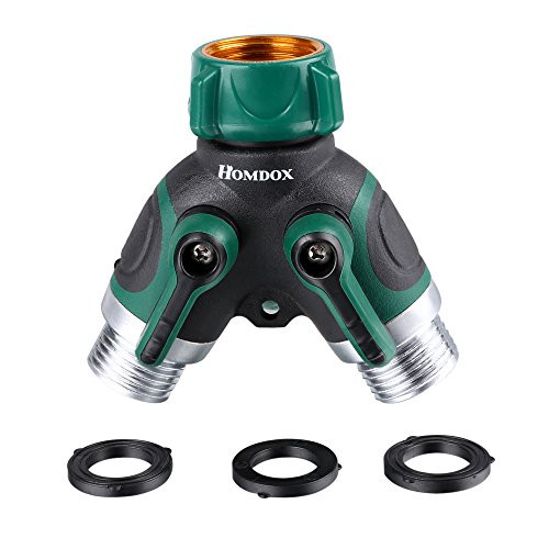 Homdox 2 Way Hose SplitterY Garden Hose Connector Fits With Outdoor Faucet with 3 Rubber Washers Ball Valve  sc 1 st  Snagshout & Snagshout | Homdox 2 Way Hose SplitterY Garden Hose Connector Fits ...