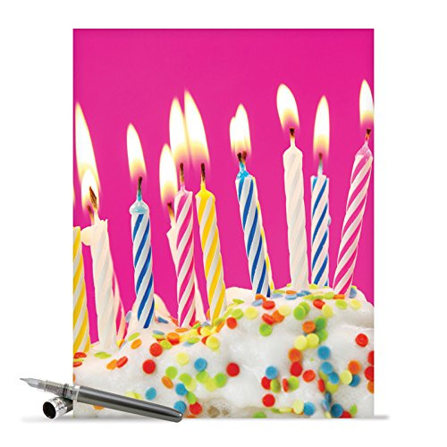 Jumbo Birthday Card Candles With Envelope Extra Large Version 85 X 11