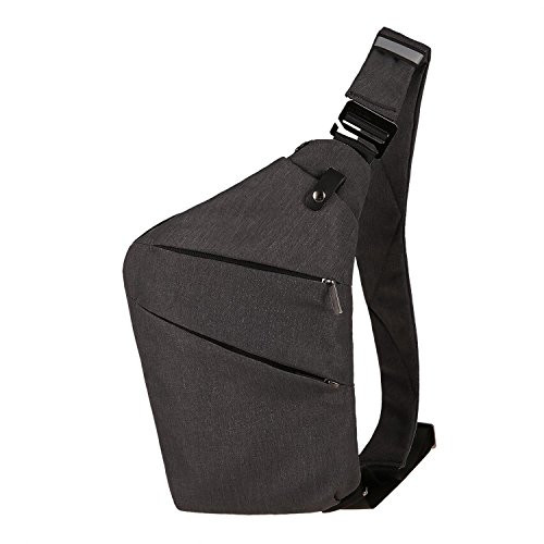 74ca24310c Leoneva Sling Bag Waterproof Shoulder Backpack Crossbody Purse Messenger  Chest Bag for Women   Men Hiking Camping Running Travel Sport