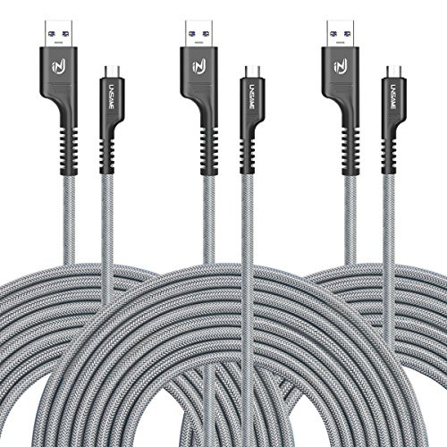 Heavy Duty Metal Braided Micro USB Charging Cable Lead For Samsung S5 S6 S7 Edge
