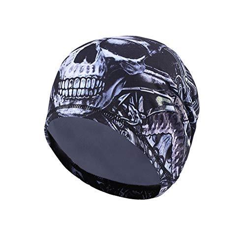 3c070d3aef8 Uherebuy Moisture Wicking Skull Cap - Beanie Cap Hat Cycling Cap Bandana Hat  Chemo Cap Dew Rag Head Wrap Headband for Women and Men