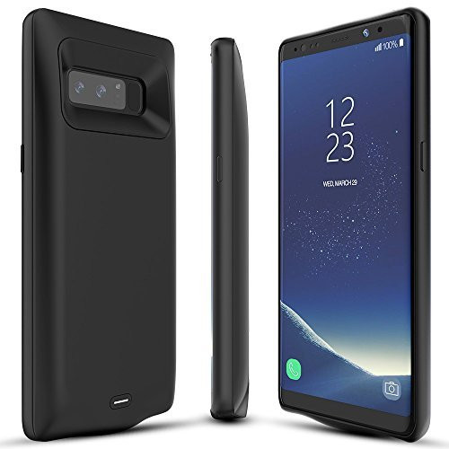 buy popular 191e0 44b8a BrexLink Galaxy Note 8 Battery Case, 5500mAh Fast Charging Rechargeable  External Battery Pack with LED Indicator, USB Type C Compatible, Slim and  ...
