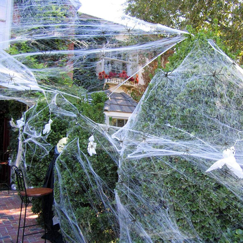 halloween decorations spider web cobweb 28 pcs little spider
