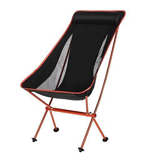 Snagshout Ancheer Folding Camping Chair Portable High Back Flexlite With Carrying Bag Only 3 6 Lbs Vs 265 Weight Capacity
