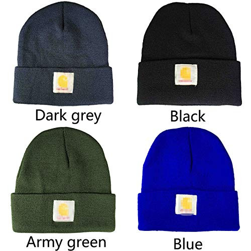 5bbd031231d Mickee Men Ladies Casual Knitted Woolen Winter Elastic Slouch Beanie Hat  Cap Skateboard