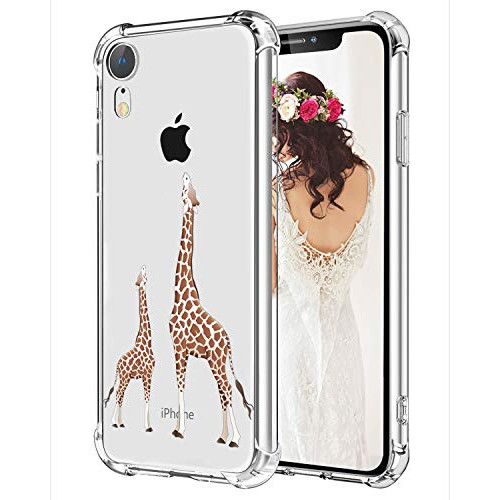 best sneakers a3e7d 2da3c Giraffe iPhone XR Case Hepix Cute Lovely Animals Slim Protective Cover  Cases TPU Frame Anti-Scratch Shock Absorbing Case with Reinforced Bumper  for ...