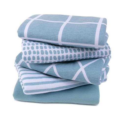 Ultra Absorbent Reversible Jersey Cotton Large Burp Cloths Baby Burp Cloth Cloth Diapers 20 x 12 5 Pack Grey