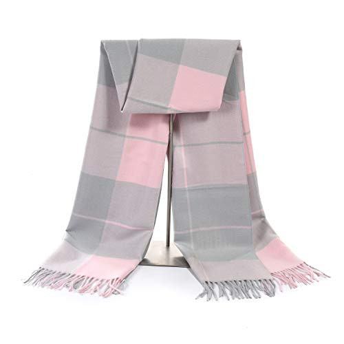 0a7e6a682 60% Off Women's Cashmere Pink Grey Blanket Shawl Wraps Gift Box Wrapped  Large Winter Pashmina Stole Scarf for Ladies