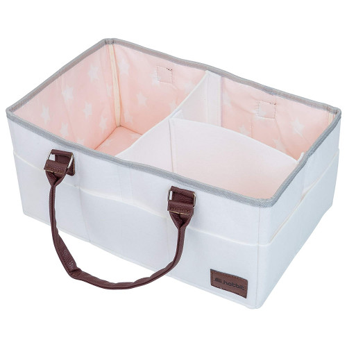 15 x 10 x 7 Inches by HatBit and Baby Essentials Nursery Storage Bin for Diapers Baby Diaper Caddy Organizer Toys