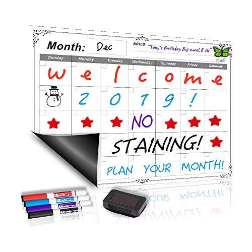 Snagshout Ucmd Magnetic Dry Erase Refrigerator Calendar Smart