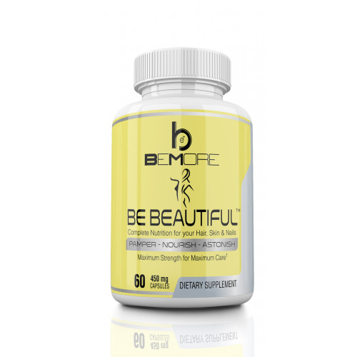 BE BEAUTIFUL | Best Hair Skin Nails 3-in-1 Supplement | Formula with Biotin  (5000mcg!), Calcium, MSM, NAC, PABA, Vitamins A, B-12, C, D, Folate and