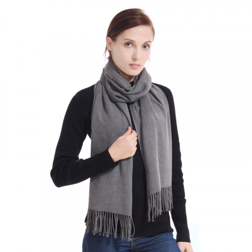 081966bc3 75% Off Womens Cashmere Scarf Wool Wrap Shawl Winter Collection Grey