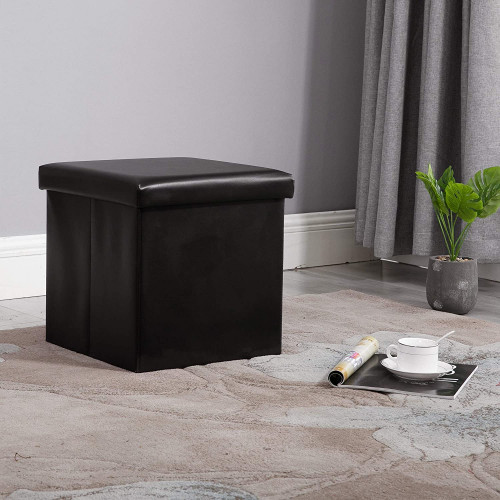 Marvelous Nb Liner Square Storage Ottoman Small Cube Footrest Stool Seat Faux Leather Toy Chest Black 15X15X15 Black 2 Pack Faux Leather Gmtry Best Dining Table And Chair Ideas Images Gmtryco