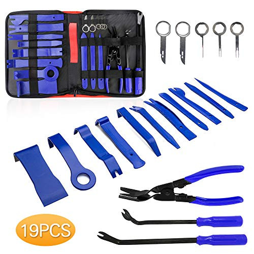 Helen Butler Auto Trim Removal Tool Kit - 19 Pcs Car Door Panel Removal  Tool for Audio Dash Center Console Installation and Remover - Panel Clip