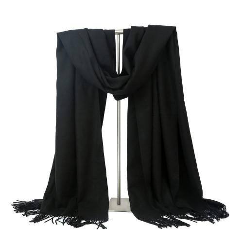 e4180d2d2 75% Off LERDU Womens Cashmere Scarf Wool Wrap Shawl Winter Collection Black