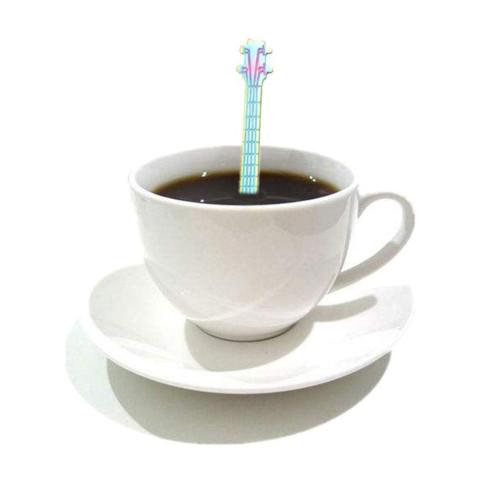 72ff48dd2c66 MelysUS Cute Mini Guitar Stainless Steel Coffee Spoon Tea Coffee Ice Cream  Spoon Teaspoon Tea Soup Sugar Dessert Appetizer Seasoning Bistro Spoon