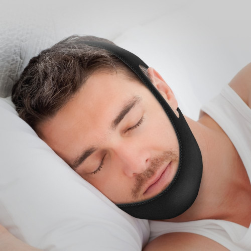 Anti-Snoring Chin Strap Sleep Solution – Comfortable Padded Stop Snoring  Device – Fully Adjustable Design Fits Men and Women – Lightweight Effective