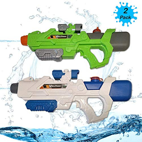 Zoomzies Ultra Water Pump Gun – Pack of 2 Guns – 19 x 8 5 Inches – Durable  and Safe – Leak Proof Design – High-Pressure 32 ft  Range – 1200 cc
