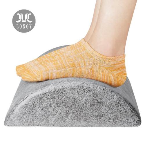 Snagshout Lonoy Ergonomic Foot Rest Under Desk Premium Leathaire Soft Foam Footrest For Desk The Most Durable Materials Desk Foot Rest For Office Home Travel Most Comfortable Foot Stool Rocker Gray