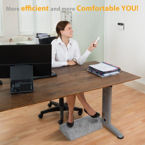 Lonoy Ergonomic Foot Rest Under Desk Premium Leathaire Soft Foam Footrest For Desk The Most Durable